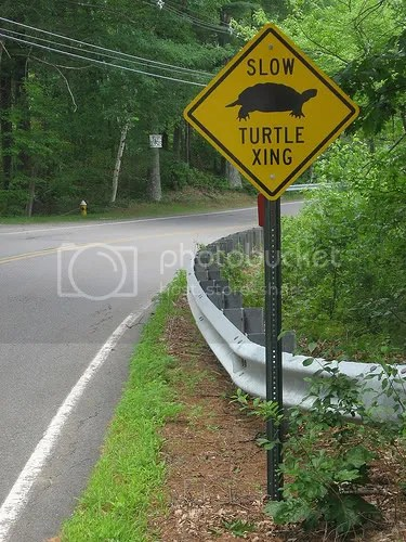 Sign says