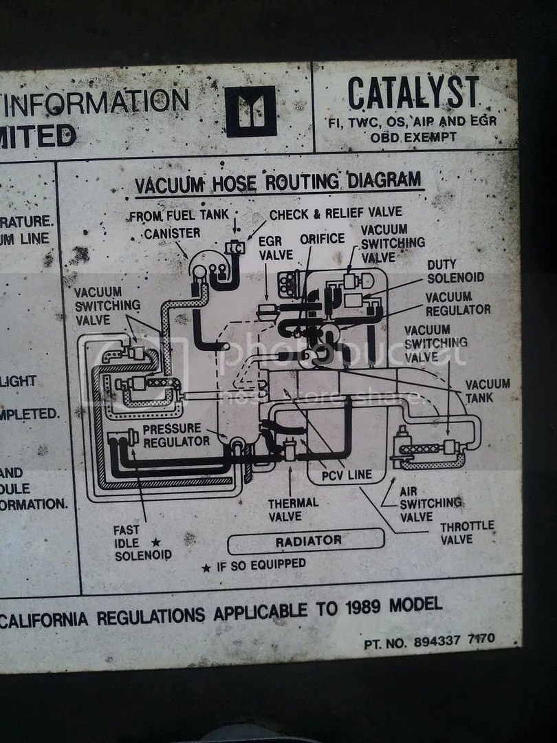 Isuzu Trooper Vacuum Diagram