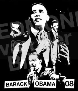 Obama collage for T-Shirt by akamundo