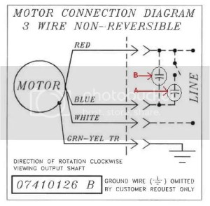 Bodine Electric Motor Wiring  DoItYourself Community