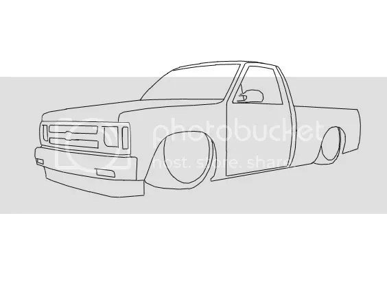 Chevy S10 Drawing Outline