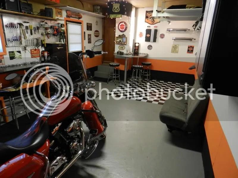 Updated Harley Garage for the King  Harley Davidson Forums