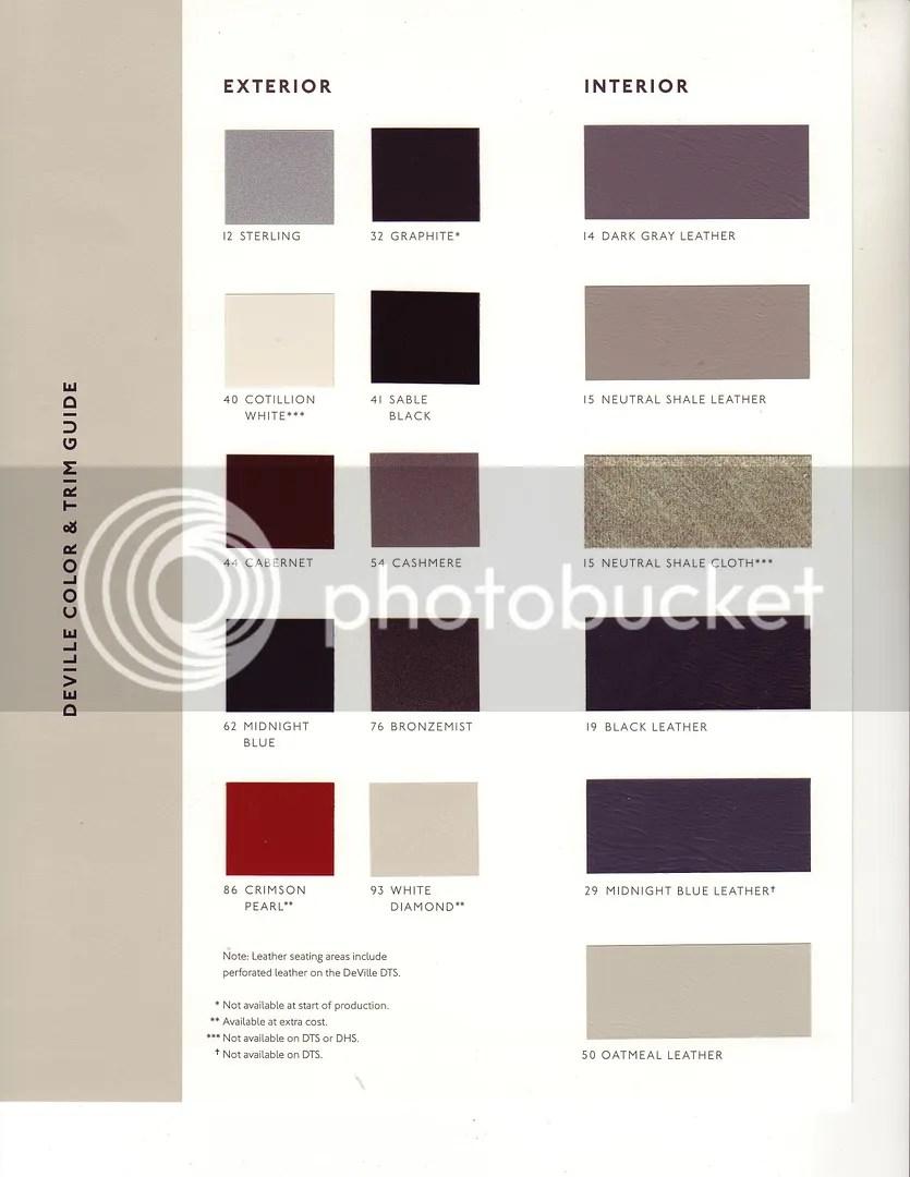 Interior Color Codes