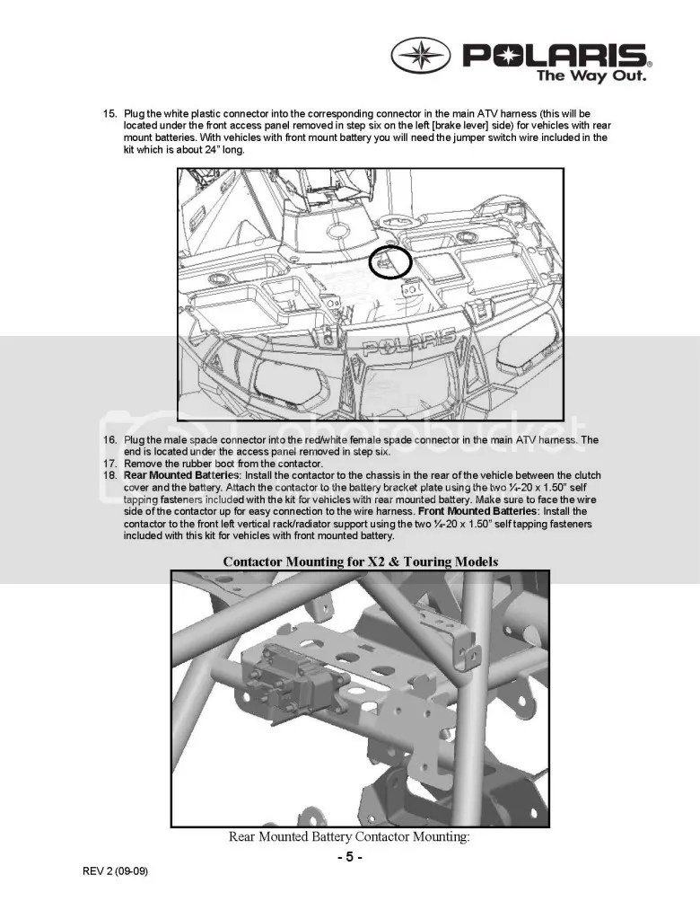 hight resolution of updated winch install instruction kit polaris atv forumthis image has been resized click