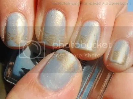 Misa Radiant with Konad m56 and Color Club Bronze
