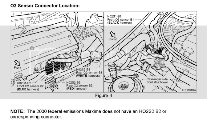 2002 Nissan maxima catalytic converter diagram