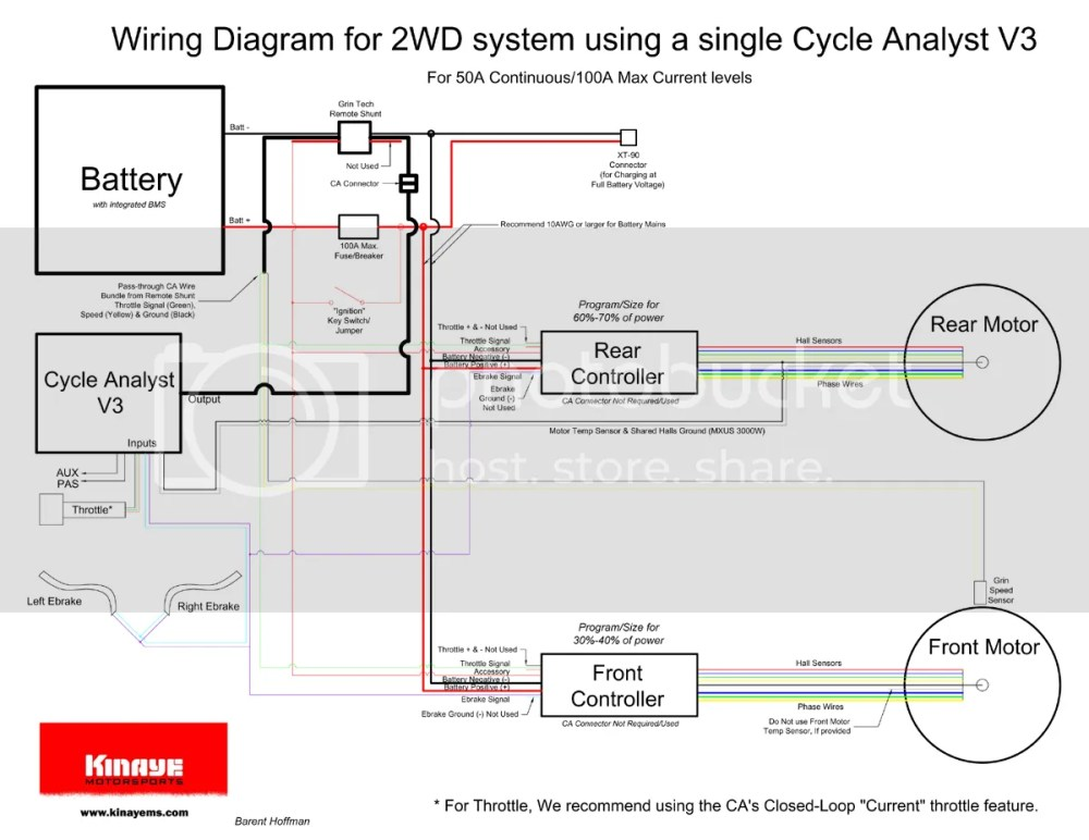 medium resolution of wiring diagram for 2wd and a single ca v3 with remote shunt