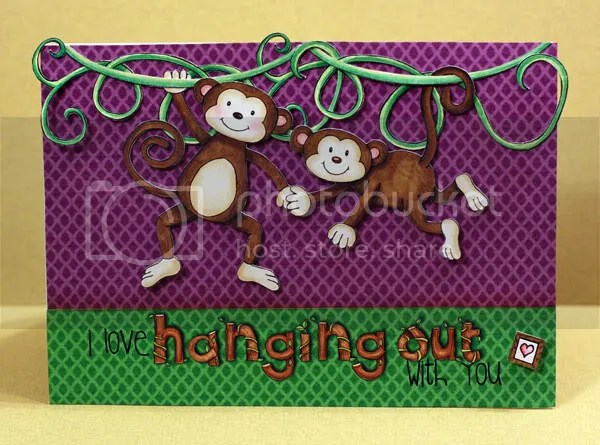 I Love Hanging Out With You card