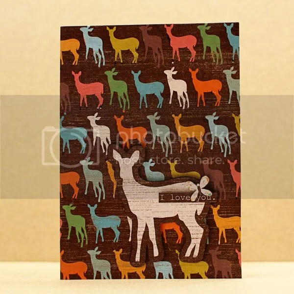 I Love You Deer card