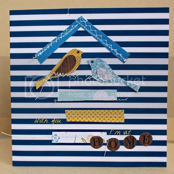 Birds Card, Blue Skies Ahead by Jenn Barrette