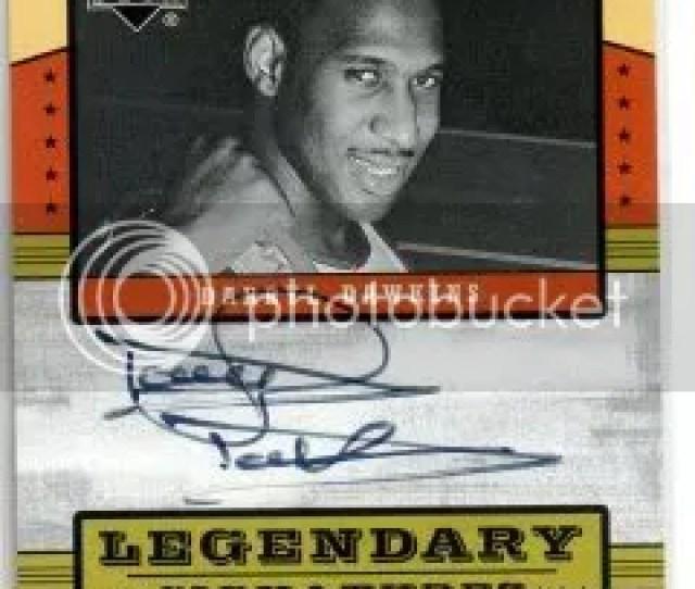 2003 04 Upper Deck Legends Legendary Signatures Dd Darryl Dawkins 25  04 Upper Deck Legends Signs Of A Future Legend Da David West 15 00