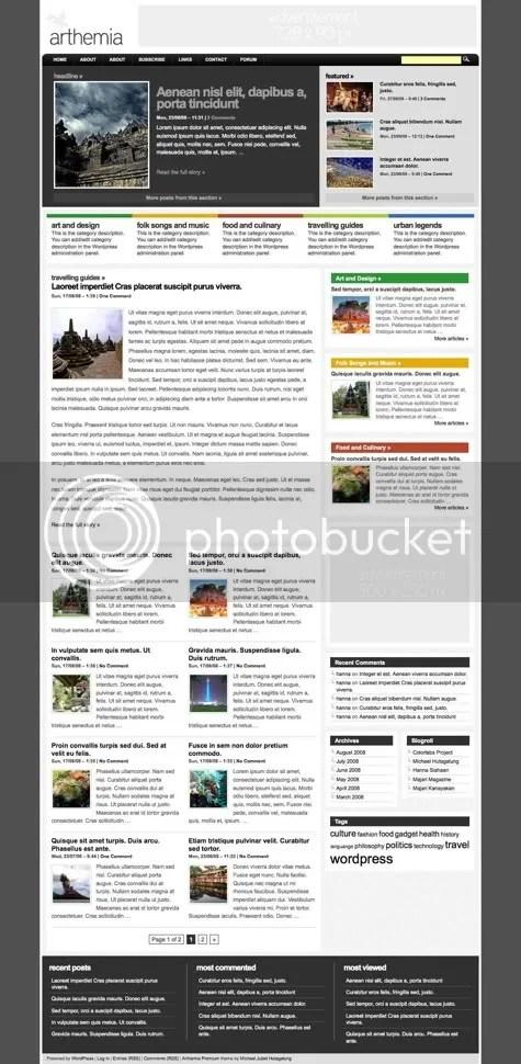 Arthemia premium wordpress theme