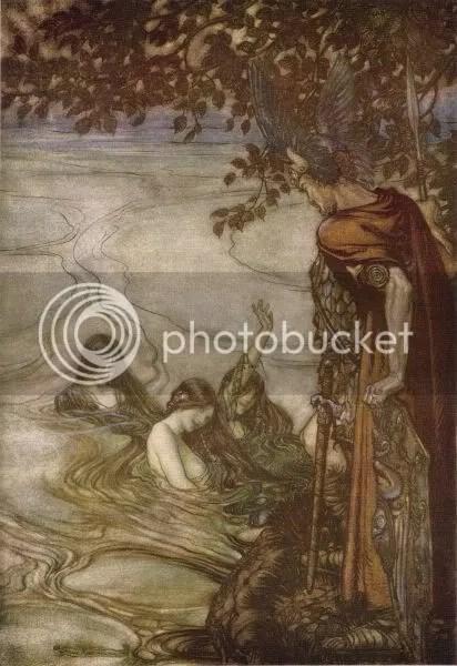 Ho, maidens of the Rhine! Splashy splashy?