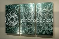 Modern Abstract Painted Metal Wall Art Decor Sculpture ...