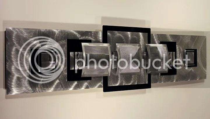 Large Modern Abstract Aluminum Metal Wall Art Decor Silver