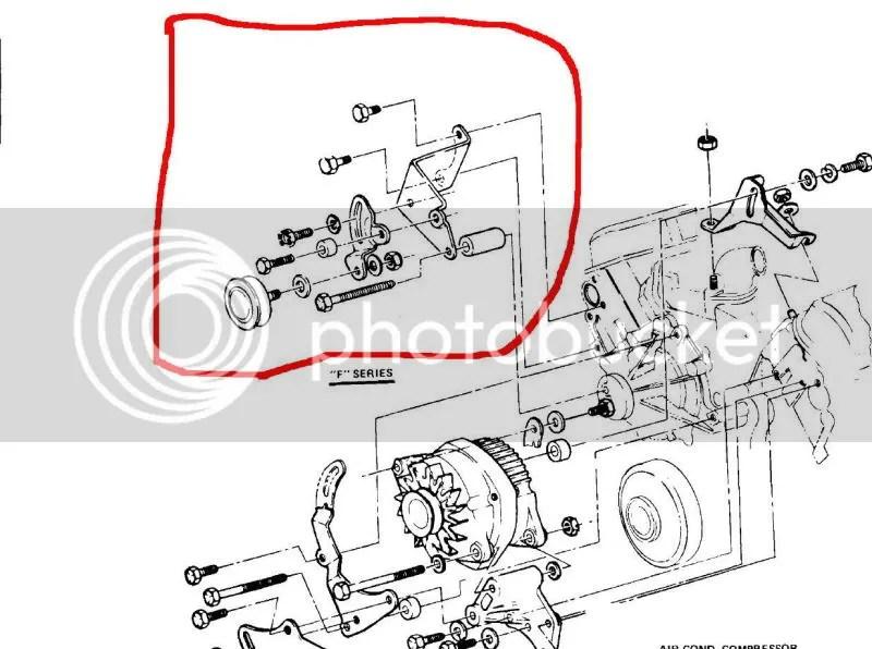 77 ta 400 alternator and power steering bracket mounting