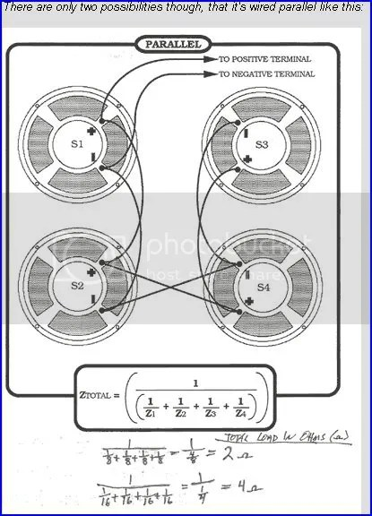 4x12 Speaker 16 Ohm Series Parallel Cabinet Wiring Diagram