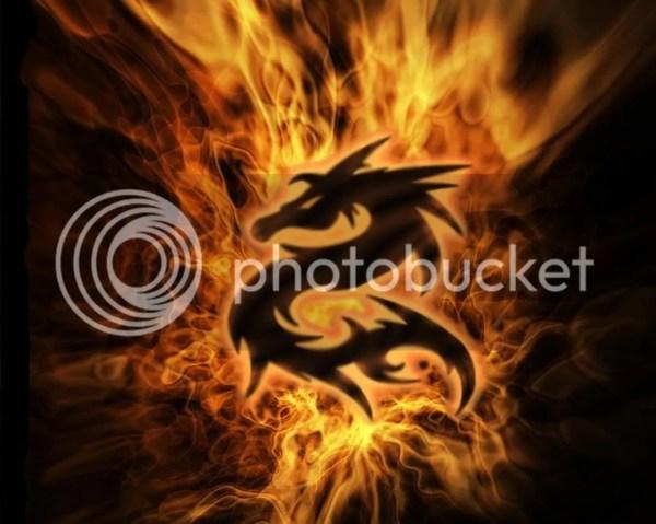 Fire Dragon Symbol Graphics &