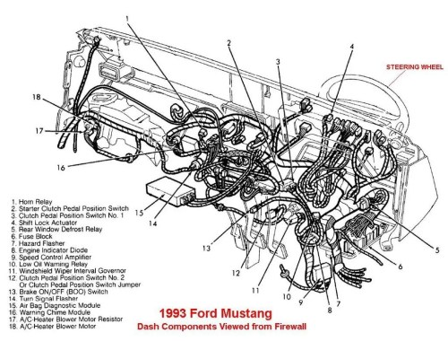 small resolution of 93 mustang air bag wiring diagram wiring library 1993 ford alternator wiring diagram 93 mustang air bag wiring diagram