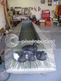 FS/T - NEW PRICE 16' Custom Duck Boat ,trailer,25hp motor ...