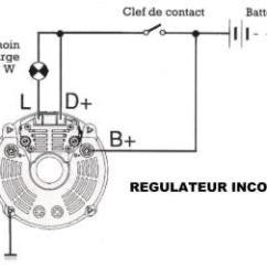 Valeo Marine Alternator Wiring Diagram Led Strobe Circuit Branchement Alternateur