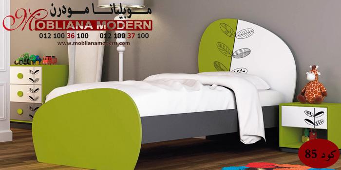 غرف اطفال مودرن 2014 دهانات فرن باللون الأبيض و الأخضر غرف