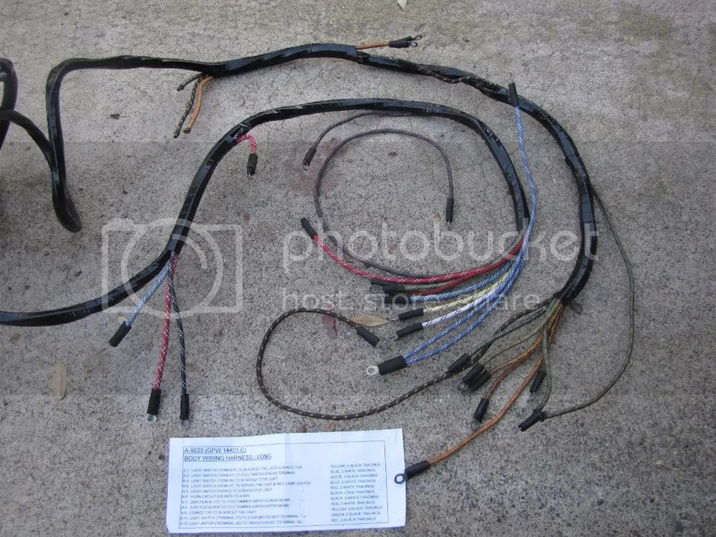 Dodge Wc Wiring Harness