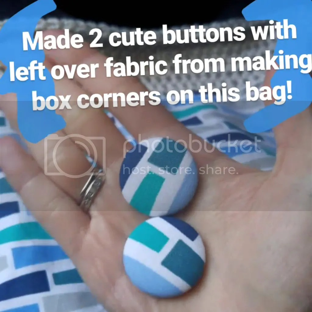 Instagram Story • cute fabric buttons out of left over box corner scraps. #sewing #fibreandfabrics