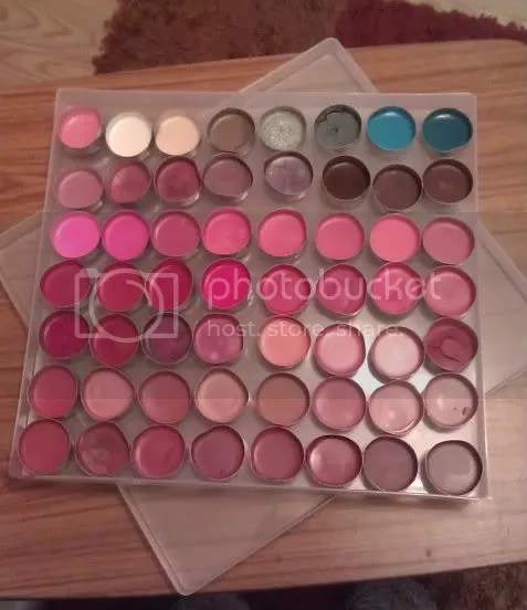 Completed palette