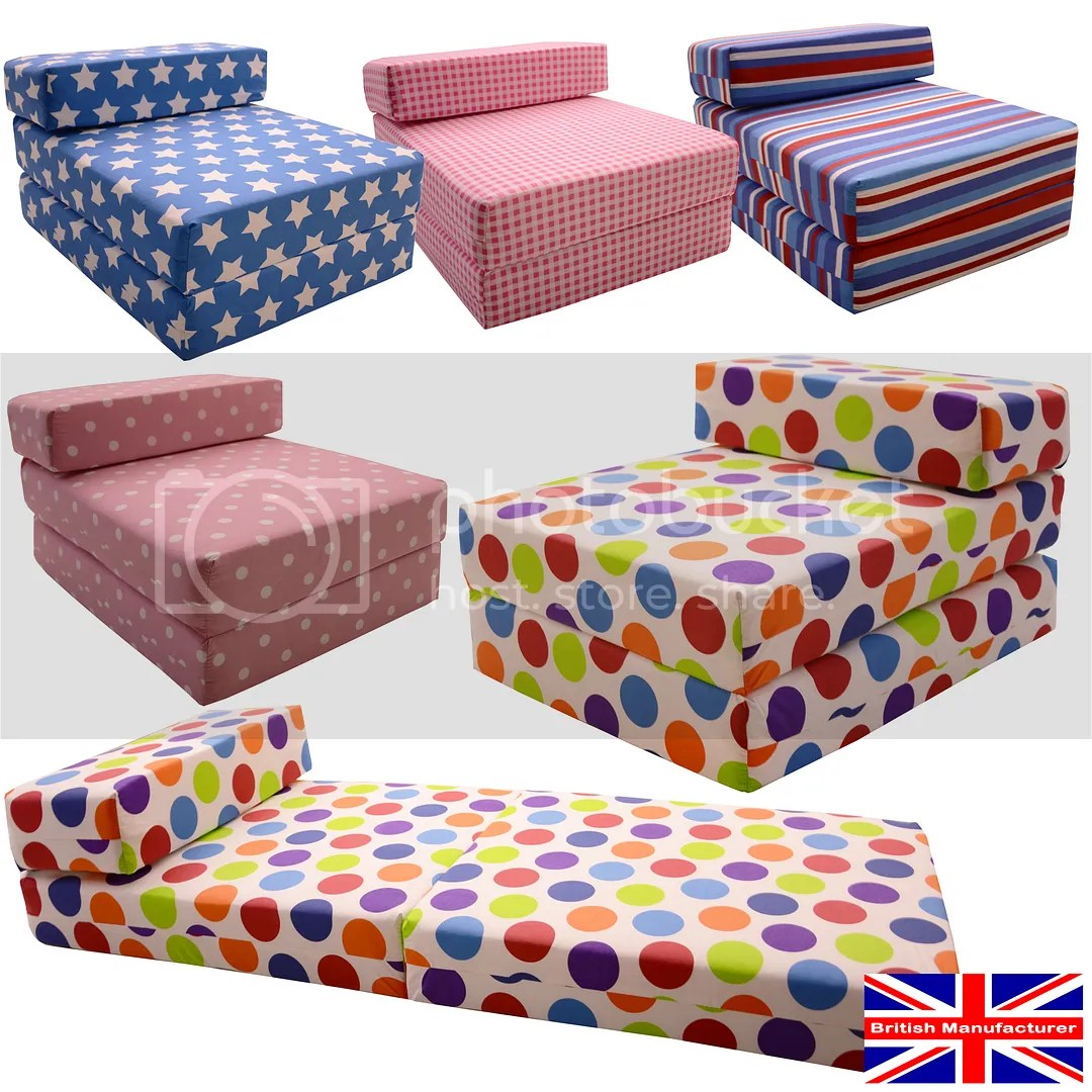 fold away single chair bed kids adirondack chairs gilda out futon guest z prints sleep over chairbed