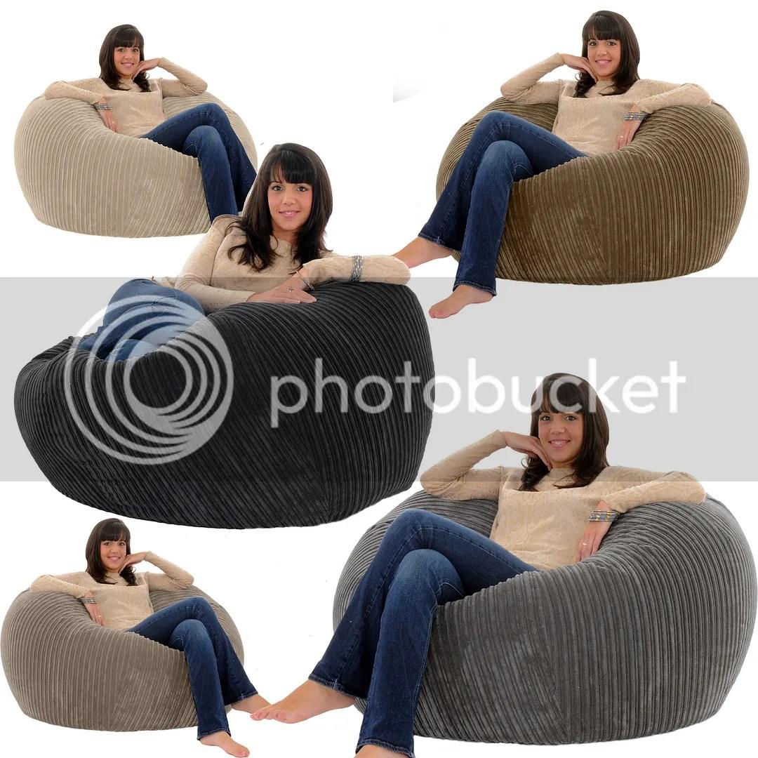 bean bag gaming chair blue wingback with ottoman gilda jumbo cord monster beanbag giant big