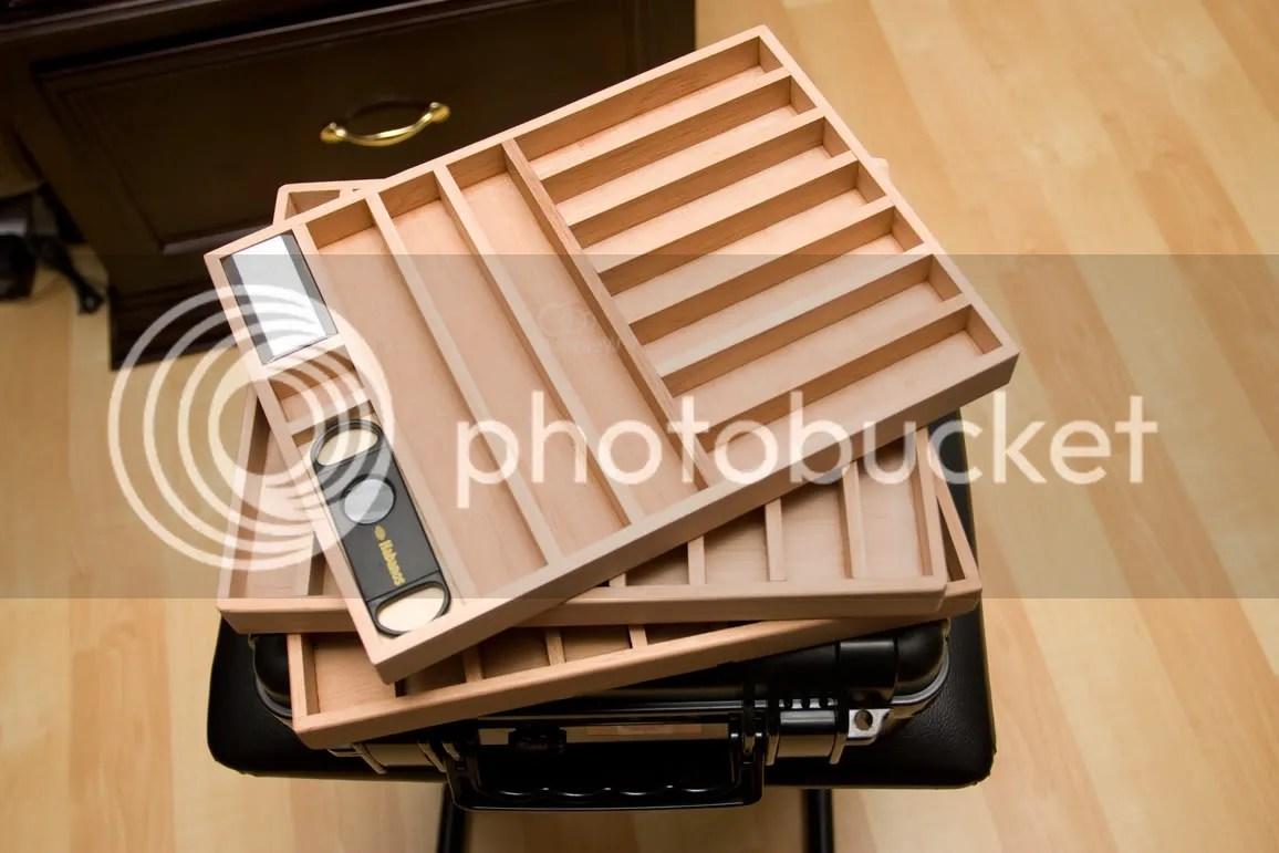cigar caddy custom trays