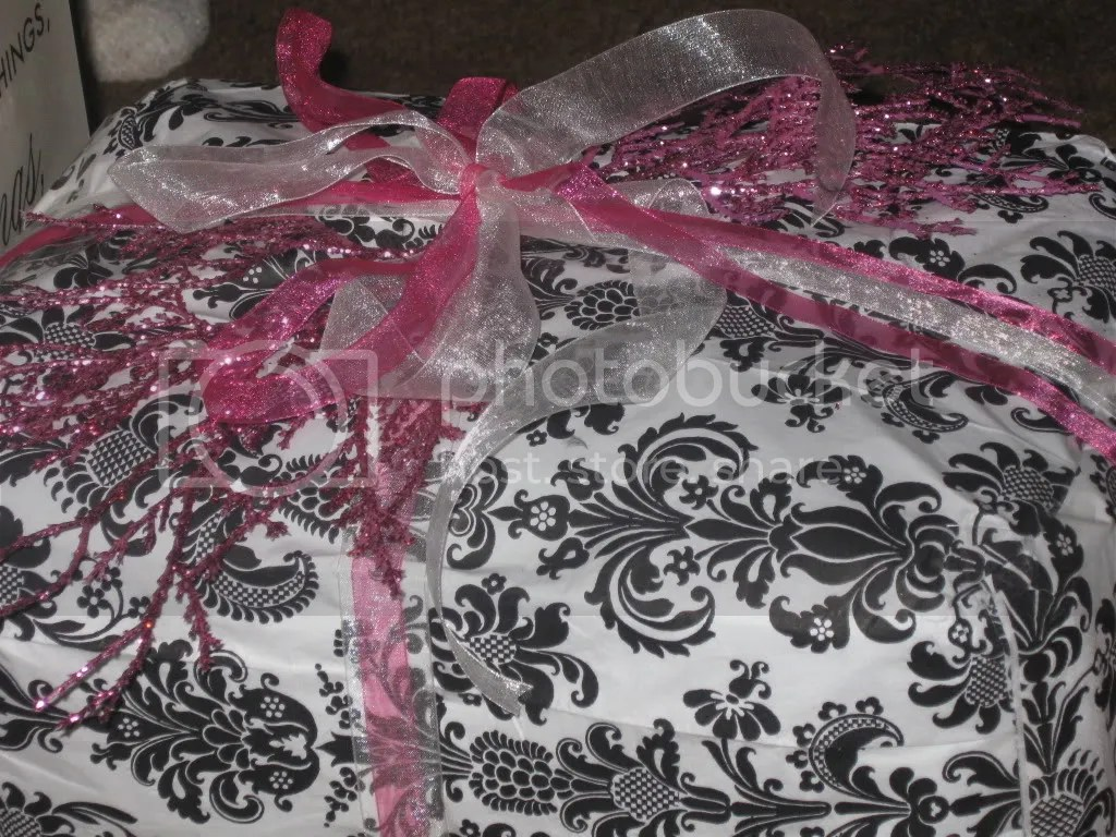 2011 JENNYS BDAY GIFT, Wrapped with pretty napkins from Tues Morning