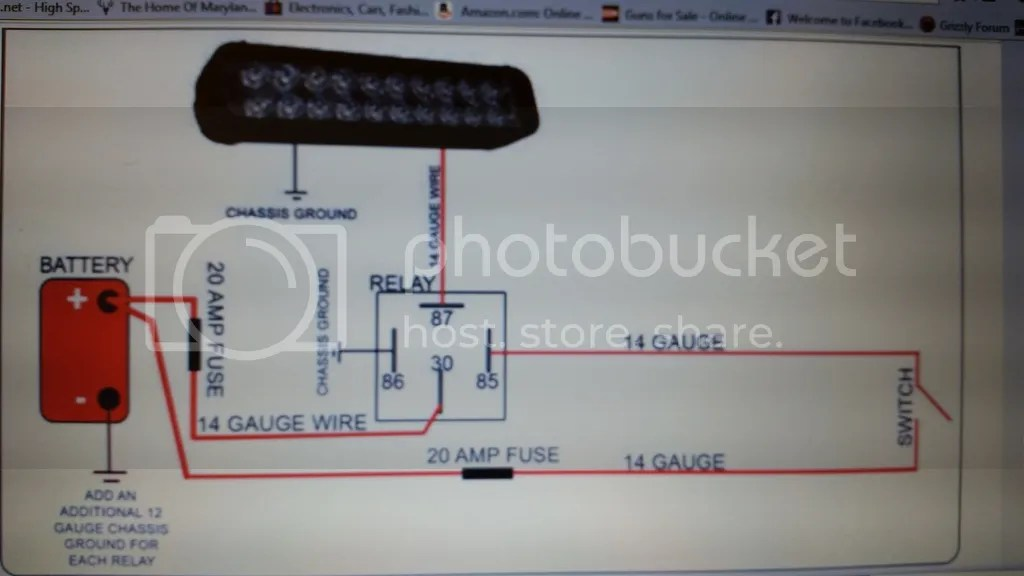 yamaha atv wiring diagram 2007 ford f350 fuse box simple of 1 led light bar - grizzly forum