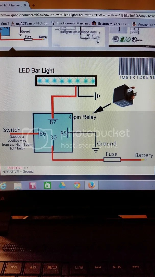 light bar wiring diagram high beam 2005 nissan altima remote starter yamaha grizzly atv forum simple of 1 led