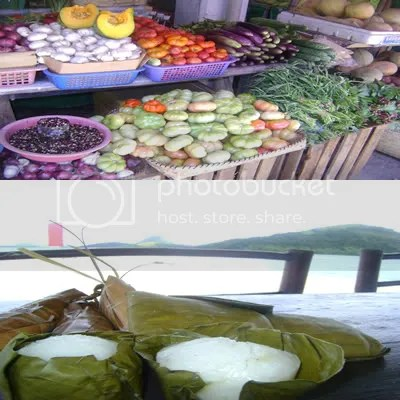 Fresh fruits and vegetables (see kadyos and those big tomatoes!), and different kinds of native delicacies, we're in food haven!