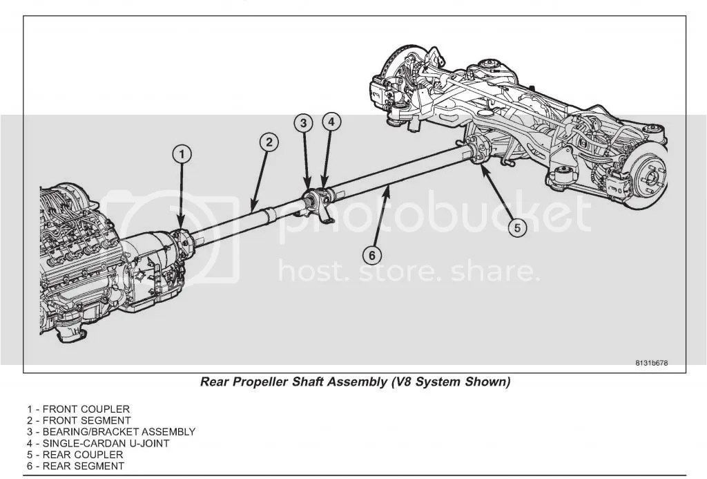 Service manual [2006 Chrysler 300 Drive Shaft Removal