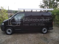 VW T5 roof rack and Fiamma awning.