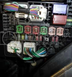 ok here is a pic of my fuse box from google it seems most dont have the large 40a main2 fuse but do have my missing 7 5a and 10a fuse  [ 1024 x 768 Pixel ]