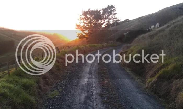 Walk down from sunrise. (A Kiwi Farmstay)