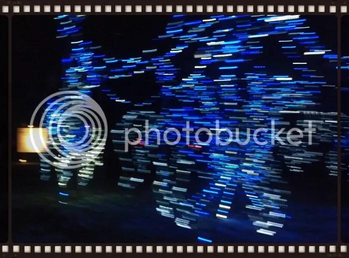 blue lights blurred at night (Big Sky Wide)