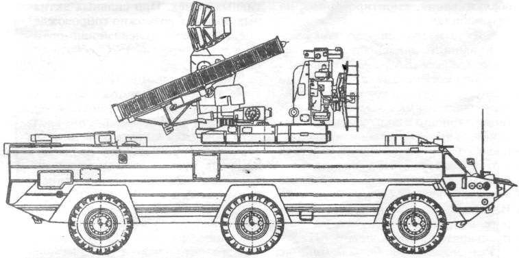 Divisional autonomous self-propelled anti-aircraft missile