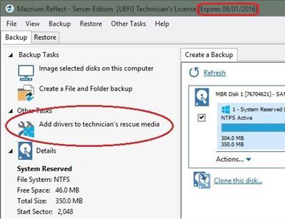Macrium Reflect Technician's USB.6.0.617 (WinPE 5.0 x64)