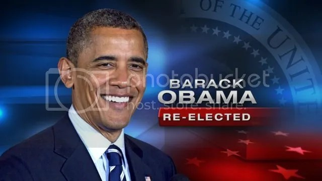 Obama re-elected