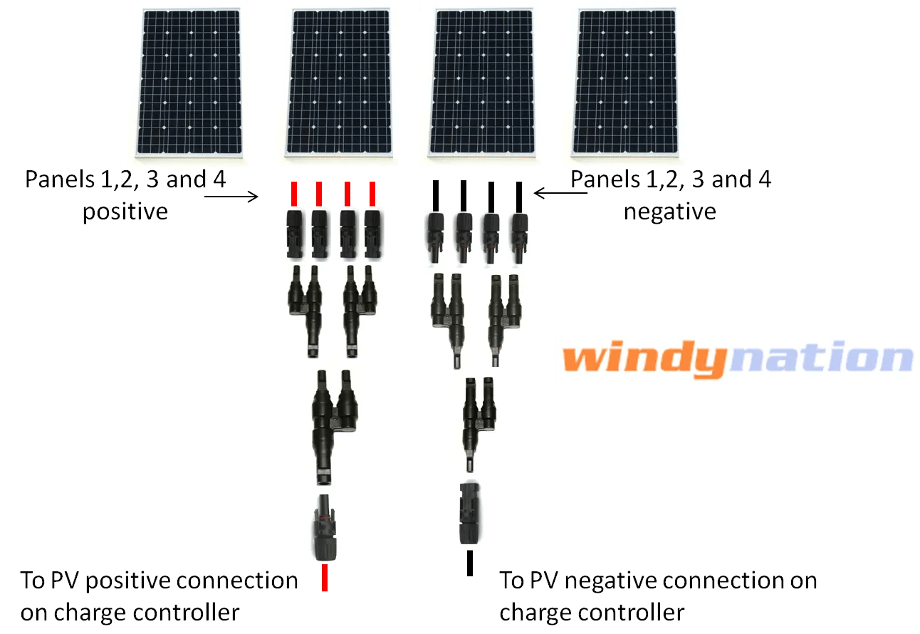 Iring Diagram For Wiring Two 12 Volt 1 00w Solar Panels For 24 Volt