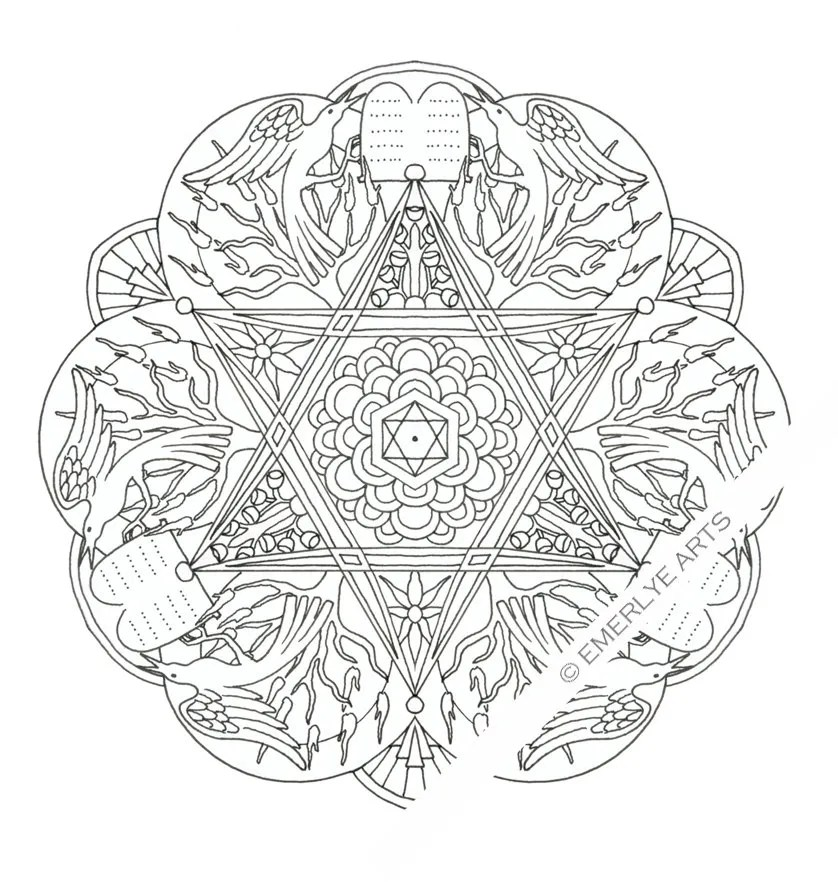 8 of the best, most artful Hanukkah coloring pages