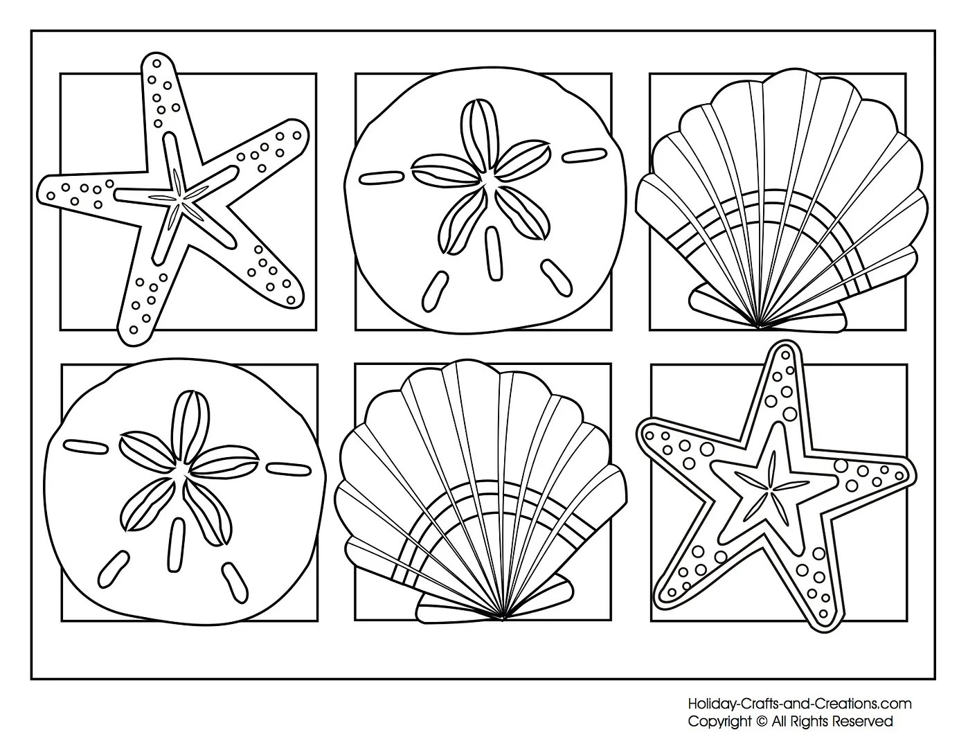Sea Creatures Symmetry Activity Coloring Pages Math With Craft