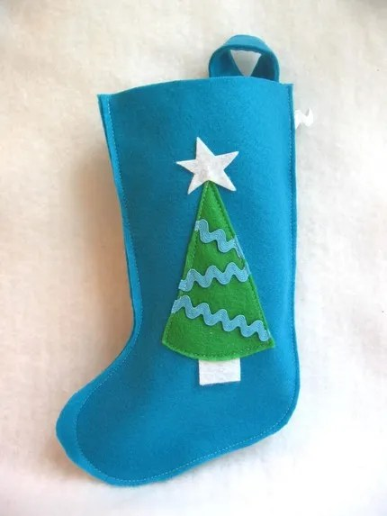 Recycled ecospun christmas stocking by RikRak