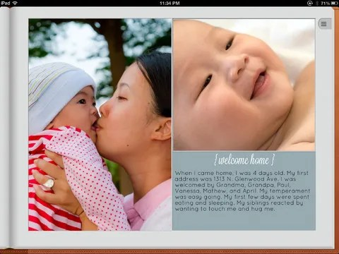 Story of You | baby book creation on the iPad