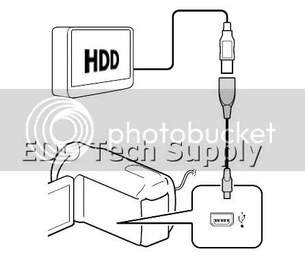 Sony HDR-PJ50V video data hard drive HDD direct copy USB